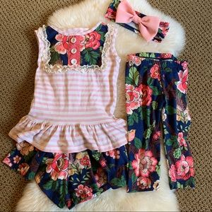 Persnickety floral outfit size 3 & 4